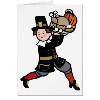 Thanksgiving card with Pilgrim
