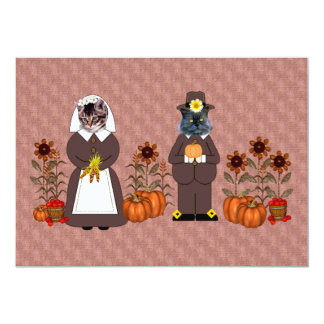 Thanksgiving Cats Card
