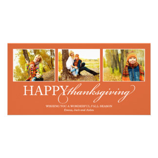 THANKSGIVING COLLAGE   HOLIDAY PHOTO CARD