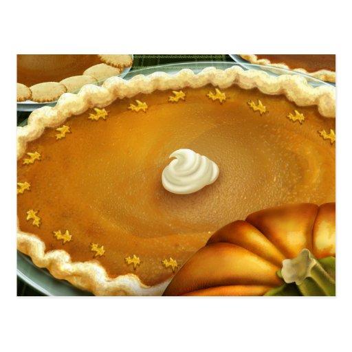 Thanksgiving Day Pumpkin Pie Postcard
