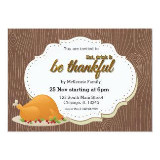 Thanksgiving Dinner Card