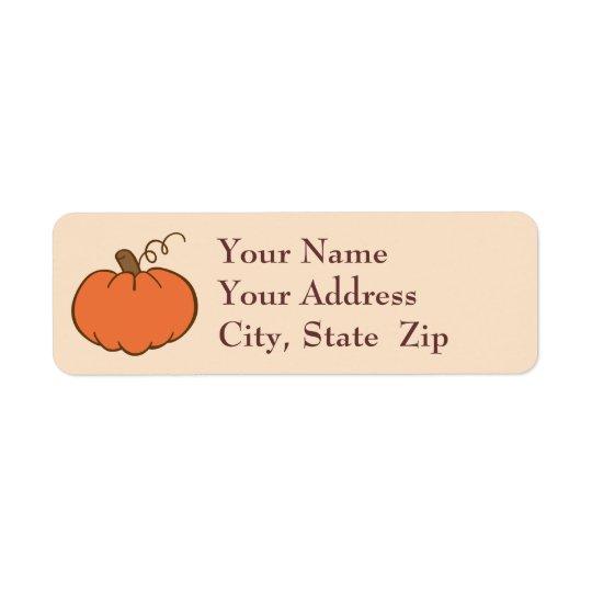 Thanksgiving Dinner Return Address Label