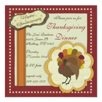 Thanksgiving Dinner Scrapbook Invitation
