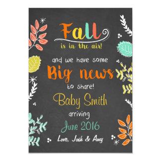 Thanksgiving fall pregnancy announcement Chalk