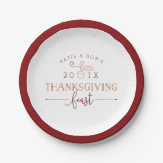 Thanksgiving Feast 7 Inch Paper Plate
