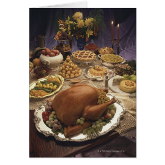 Thanksgiving feast greeting card