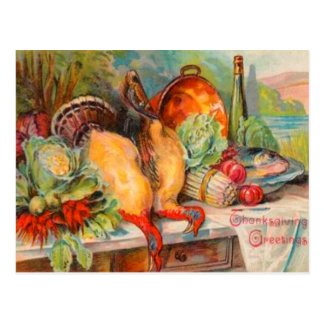 Thanksgiving Feast Postcard