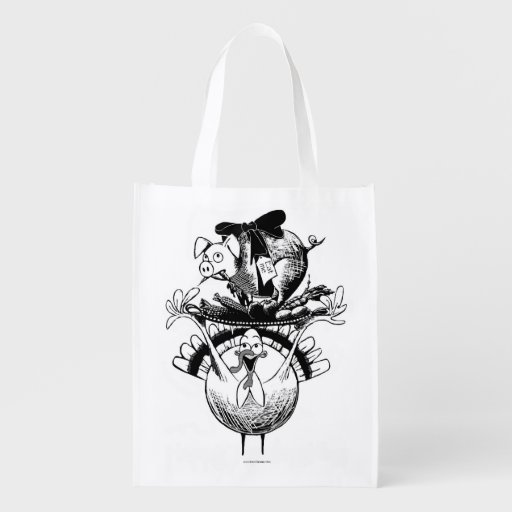 Thanksgiving feast grocery bag