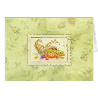 Thanksgiving Greeting Card Cornucopia