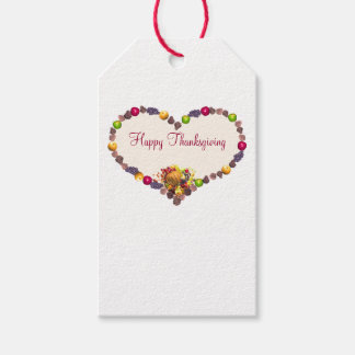 Thanksgiving Heart and Cornucopia Gift Tags