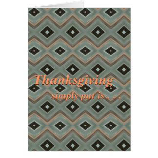 Thanksgiving is card