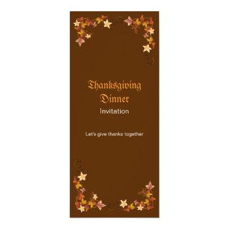 Thanksgiving Leaves Classic Fall Border Card