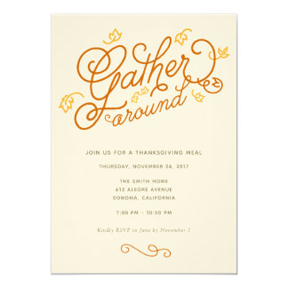 Thanksgiving Party Invitation
