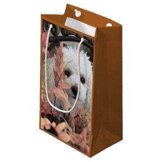 Thanksgiving poodle dog gift bag