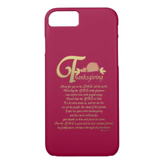 Thanksgiving - Psalm 100 iPhone 8/7 Case