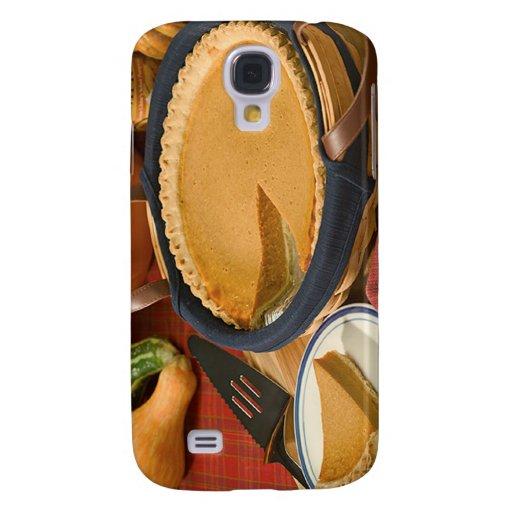 Thanksgiving Pumpkin Pie Samsung Galaxy S4 Case