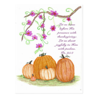 Thanksgiving Pumpkins Postcard