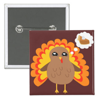 Thanksgiving Turkey Pinback Buttons