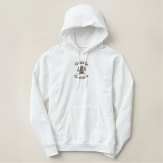Thanksgiving Turkey ~ Holiday Clothing Embroidered Hoodie