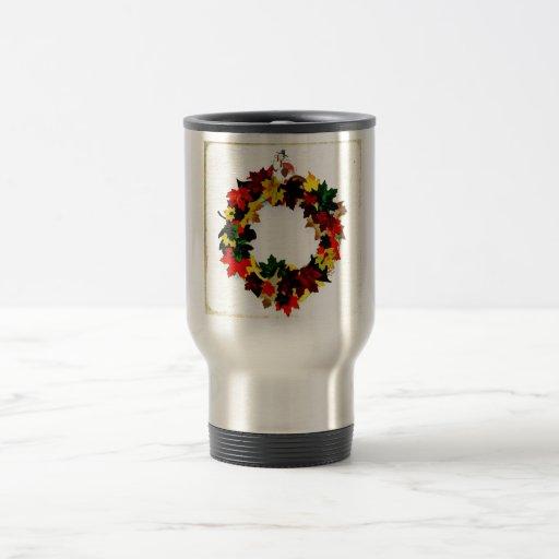 Thanksgiving Turkey Wreath Mugs