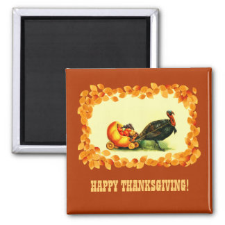 Thanksgiving Vintage Style Gift Magnets