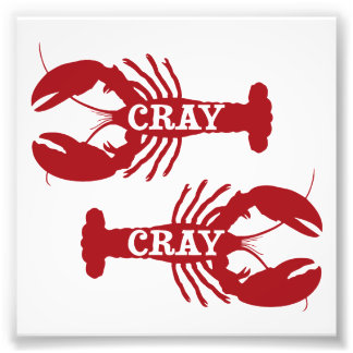 That Cray Cray Crayfish Crustacean Photo Print