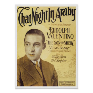 That Night in Araby Vintage Songbook Cover Print