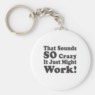 That Sounds So Crazy It Just Might Work! Basic Round Button Key Ring