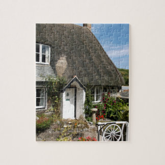Thatched Cottage at Cadgwith Cornwall Photograph Jigsaw Puzzle