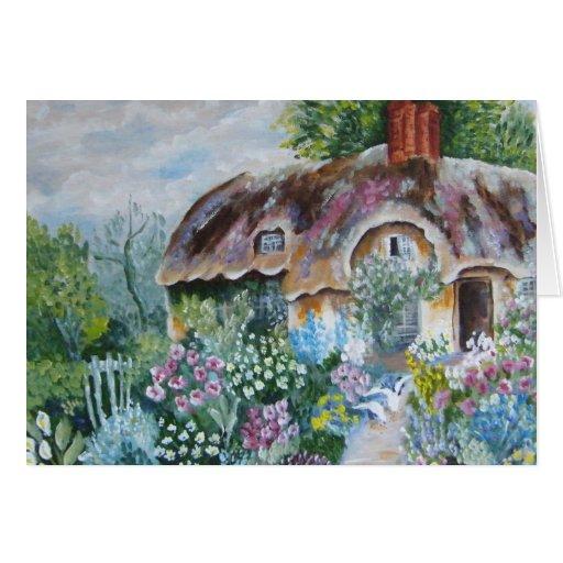 Thatched Cottage Garden Card