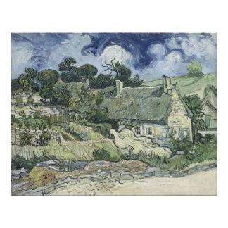 Thatched Cottages at Cordeville Vincent Van Gogh Photograph