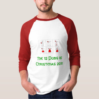The 12 Pubs of Christmas 2010 Tee Shirts