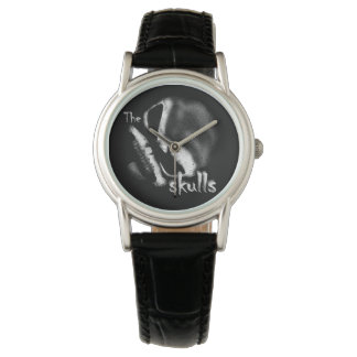 The 13 Skulls Womens Classic Black Leather Watch
