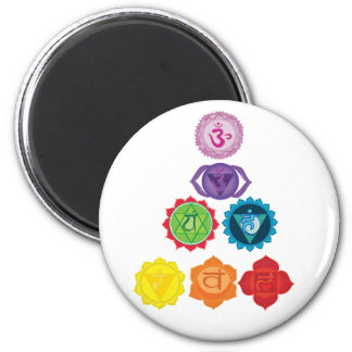 The 7 Chakras Yoga Mandala  Magnet