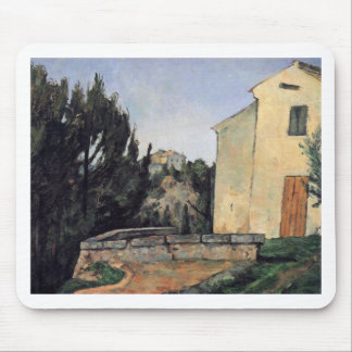 The Abandoned House by Paul Cezanne Mouse Pad