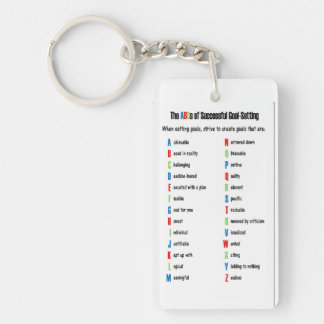 The ABCs of Successful Goal-Setting Keychain