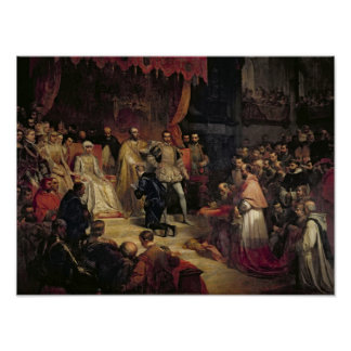 The Abdication of Charles V  1841 Poster
