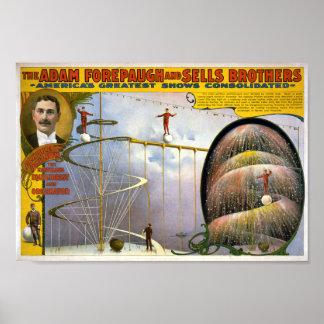 The Adam Forepaugh & Sells Brothers Vintage Circus Print