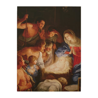 The Adoration of the Shepherds Wood Wall Art