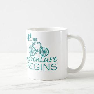 The adventure begins mug cup