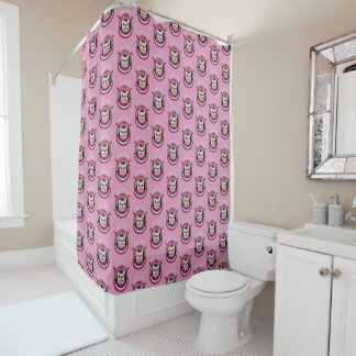 The adventure of a cute Frenchie spaceman Shower Curtain