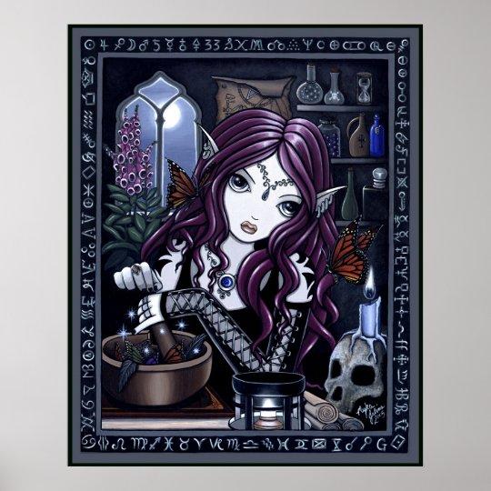 The Alchemist Gothic Fantasy Art Poster