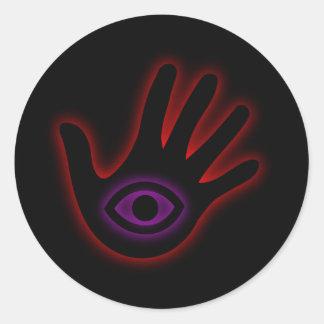 The All Seeing Eye- illuminati Classic Round Sticker