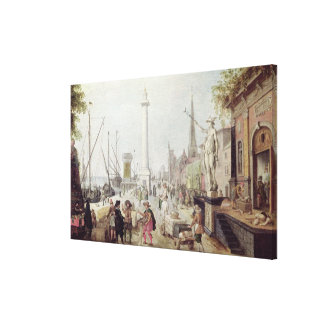 The Ancient Port of Antwerp Canvas Print