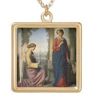 The Angelic Salutation, or The Annunciation, 1860 Gold Plated Necklace