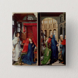 The Annunciation and the Presentation in Temple 15 Cm Square Badge