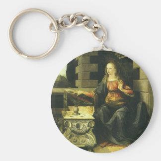 The Annunciation by Leonardo da Vinci Key Ring