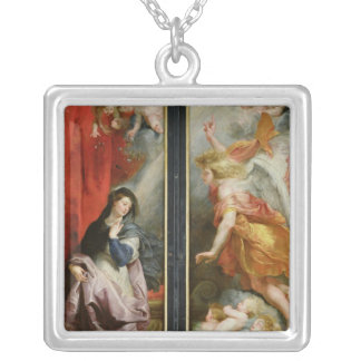 The Annunciation, from the reverse of the Silver Plated Necklace