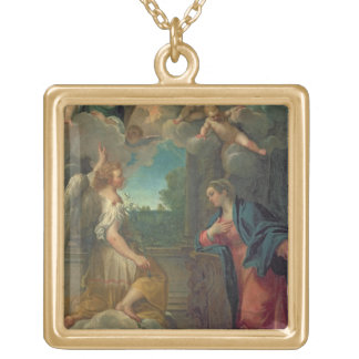 The Annunciation (oil on canvas) 2 Gold Plated Necklace