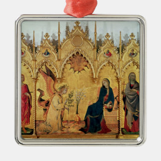 The Annunciation with St. Margaret and St. Christmas Ornament